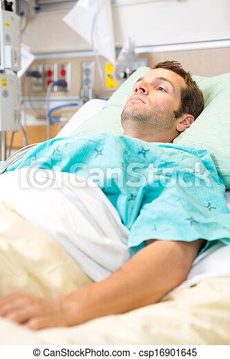 reposer, patient, lit - csp16901645