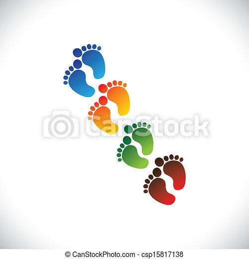 représenter, toddler's, école, bébé, graphic., bébé, crèche, &, -, jardin enfants, jeu, coloré, pré-école, illustration, tout petits enfants, étape, soin pied, paires, gosses, ceci, centres, etc, vecteur, boîte, ou - csp15817138