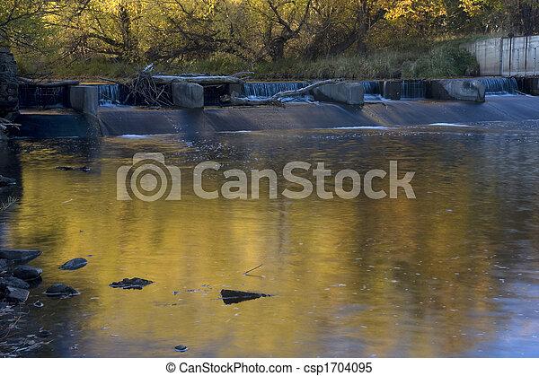 represa, diversão, rio - csp1704095