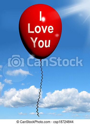 representa, amantes, amor, balloon, pares, tu - csp18724844
