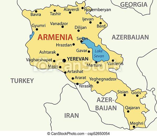 Republic of Armenia - vector map on armenia on map, yerevan hotels, armenia climate map, yerevan armenia weather, yerevan armenia people, yerevan on world map, soviet armenia map, armenia political map, yerevan on a map of russia, yerevan map english, yerevan armenia travel, armenia area map,