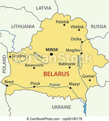 Republic of belarus vector map vectors illustration Search