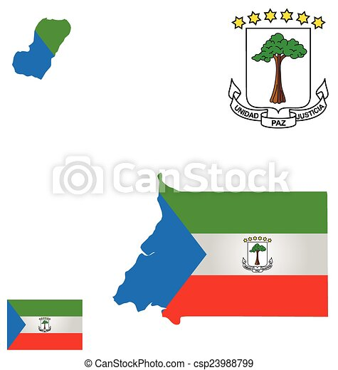 Republic of Equatorial Guinea Flag on map showing algeria and guinea, map of equatorial guinea in madrid, the capital of guinea ecuatorial in spanish, map of nigeria biafra, guinea ecuatorial map in spanish, map of africa, map of only equatorial guinea, map of mbini river, map of equatorial guinea in spain,