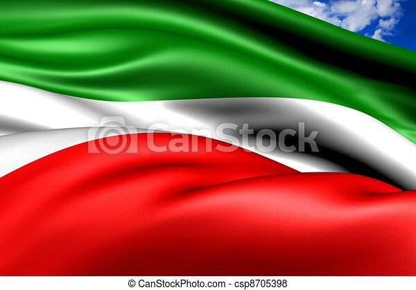 republic of tatarstan flag russia close up