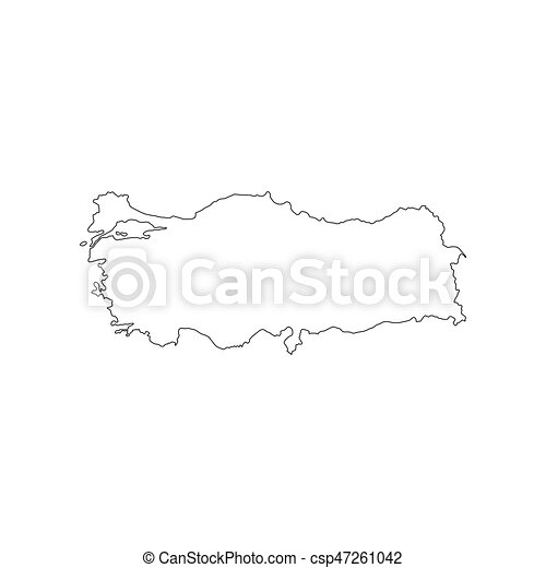 Republic of turkey map on the white background. vector illustration.