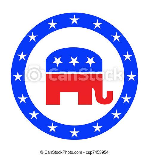 Republican button  - csp7453954