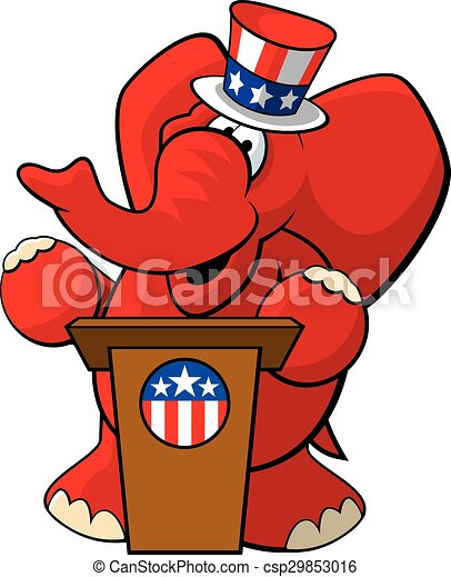 Republican Elephant 2 - csp29853016