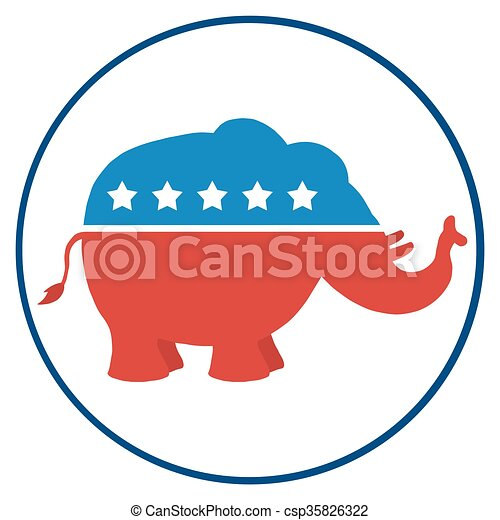 republican elephant circle label republican elephant vector rh canstockphoto ie republican elephant vector free
