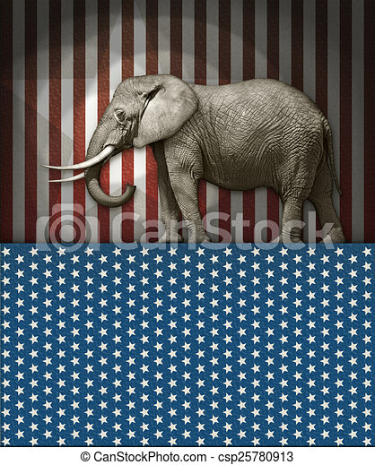 Republican Elephant Photo Illustration Of An Elephantas The Symbol