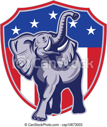 republican elephant mascot usa flag illustration of a republican rh canstockphoto com republican christmas clipart democrat republican clipart