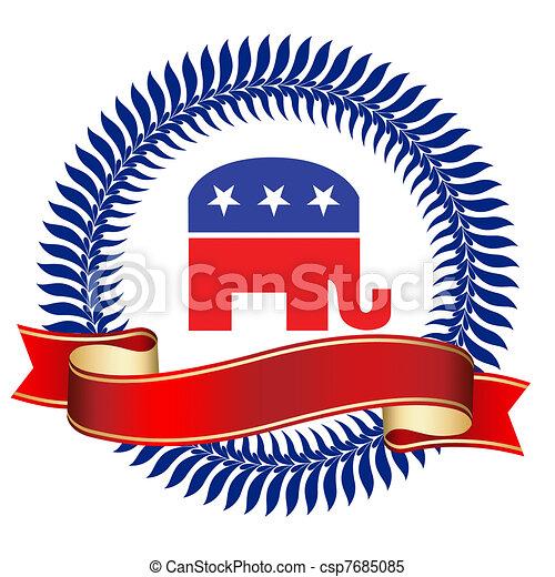 Republican Logo - csp7685085