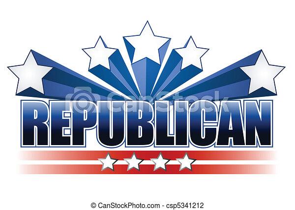 Republican sign - csp5341212