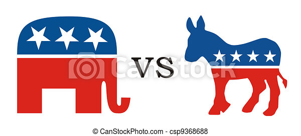 republican vs democratic republican party versus democratic rh canstockphoto com clipart republican elephant republican elephant clipart free