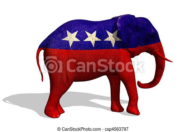 republicano, elefante - csp4563797