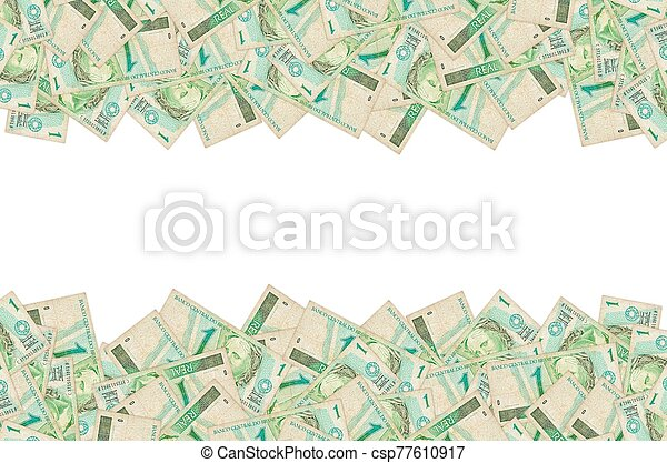 Republics Effigy portrait depicted as bust on old one real note Brazilian money - csp77610917