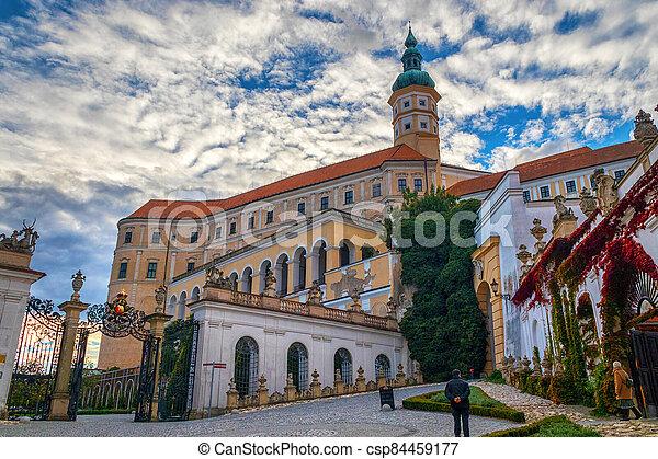 republika, čech, mikulov, baroko, silný, věž, věž, mikulov - csp84459177