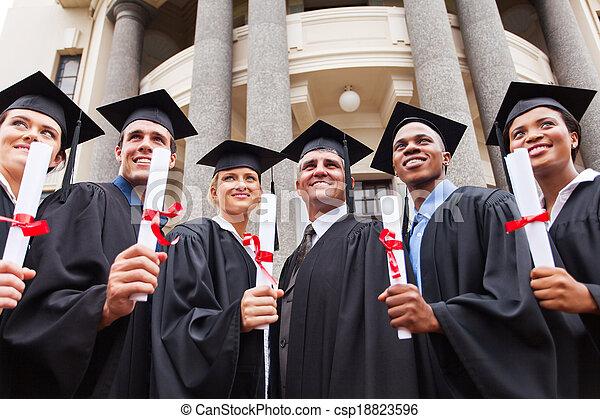 reputacja, multicultural, dziekan, grupa, absolwenci - csp18823596