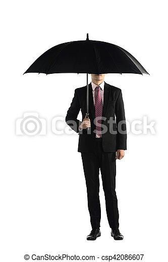 reputacja, parasol, handlowy, dzierżawa, człowiek - csp42086607