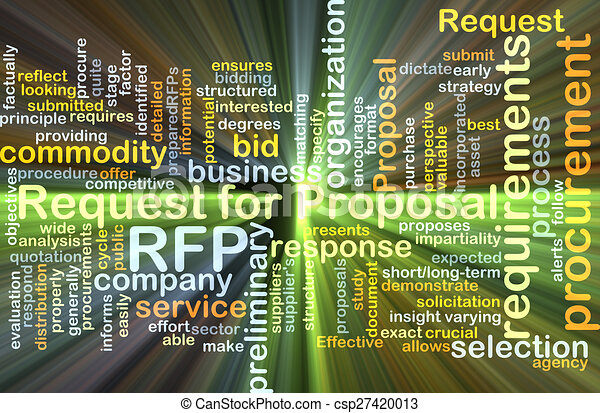 Request for proposal RFP background concept glowing - csp27420013