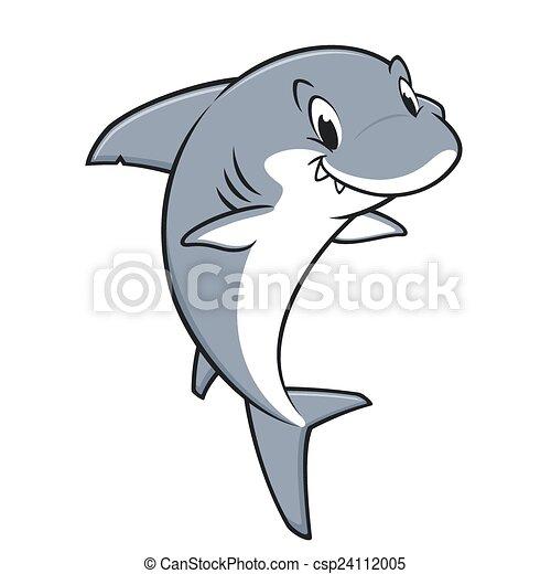 requin, dessin animé, amical - csp24112005