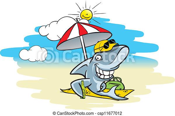 requin, plage - csp11677012