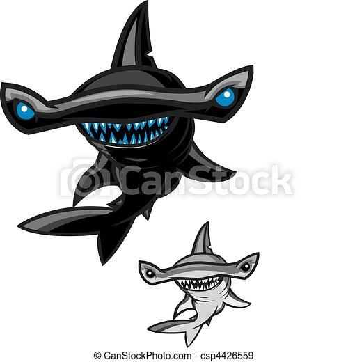 Diff rent couleur requin poisson marteau deux styles for Comment dessiner un requin marteau