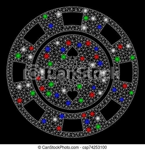 res muerta, luz, astilla, casino, puntos, malla, póker, brillante - csp74253100