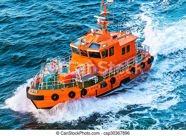 Rescue or coast guard patrol boat - csp30367896