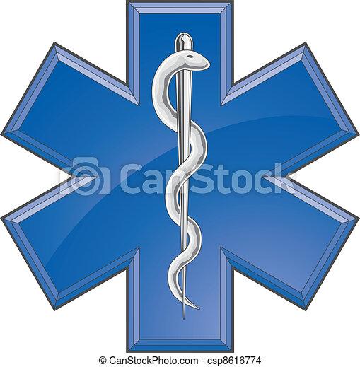 Rescue Paramedic Medical Logo - csp8616774