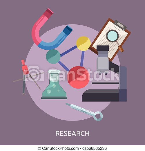 Research Conceptual illustration Design - csp66585236