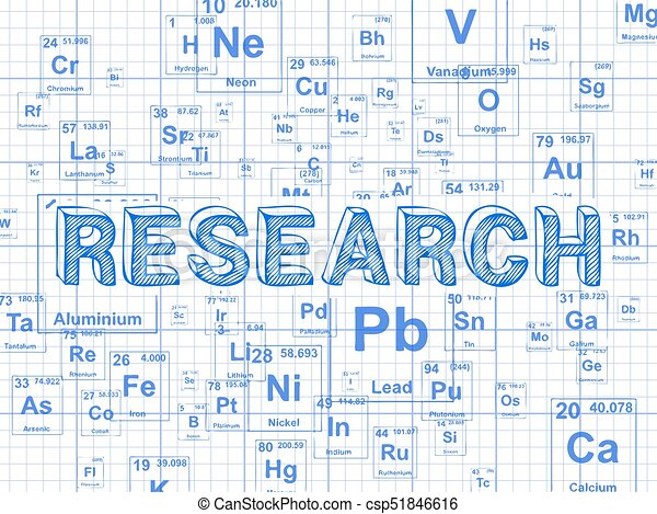 research element graph paper background research word on periodic