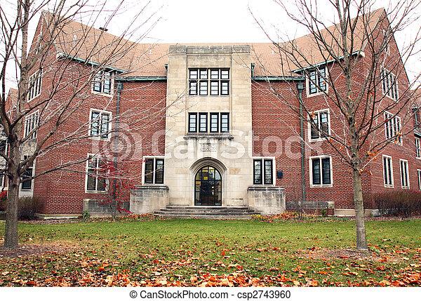 residência, campus universidade, estudante, corredor - csp2743960