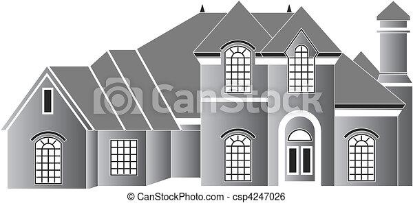Residence house - csp4247026