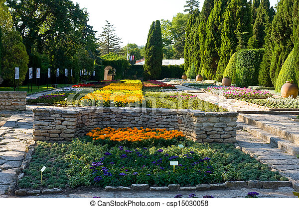 Residence of the Romanian queen by the black sea in Balchik, Bulgaria  - csp15030058