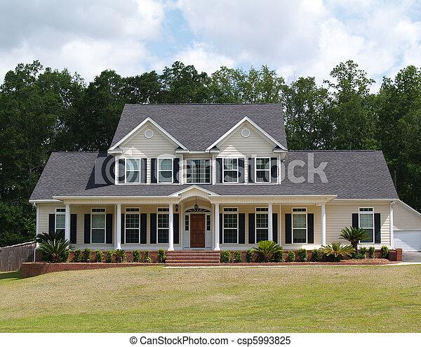 residencial, história, dois, lar - csp5993825