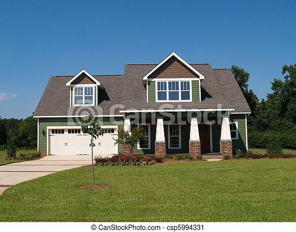 residencial, história, dois, lar - csp5994331