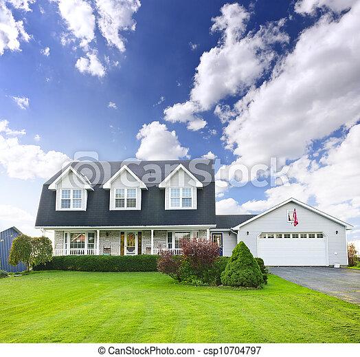 residencial, história, dois, lar - csp10704797