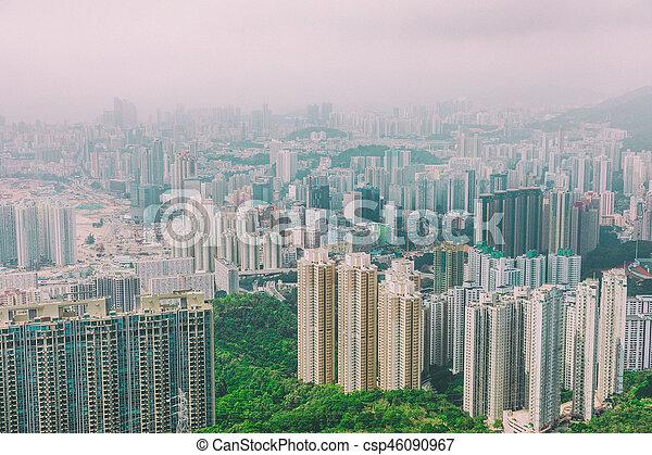 residential area in Hong Kong - csp46090967