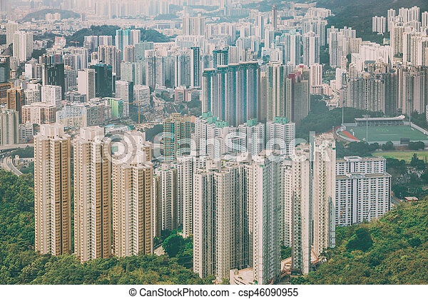 residential area in Hong Kong - csp46090955