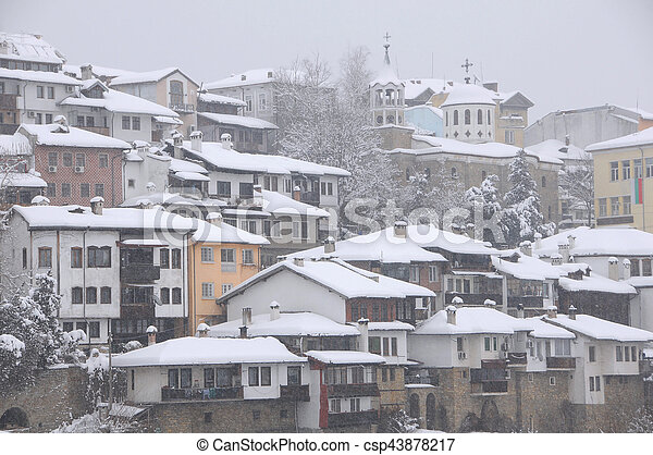 Residential Area in the Winter - csp43878217