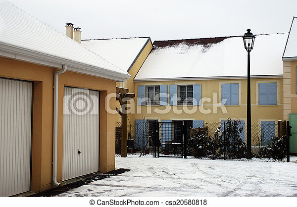 residential area in winter - csp20580818