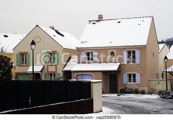 residential area in winter - csp20580970