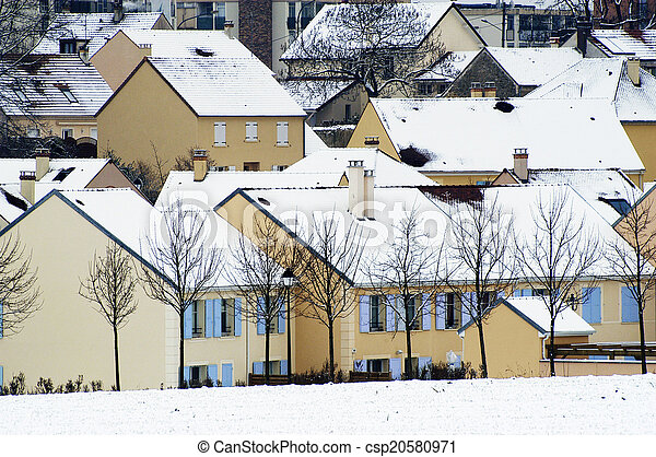 residential area in winter - csp20580971