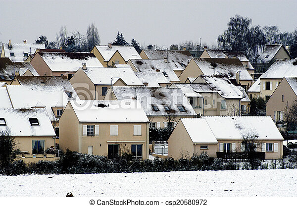 residential area in winter - csp20580972