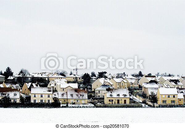 residential area in winter - csp20581070