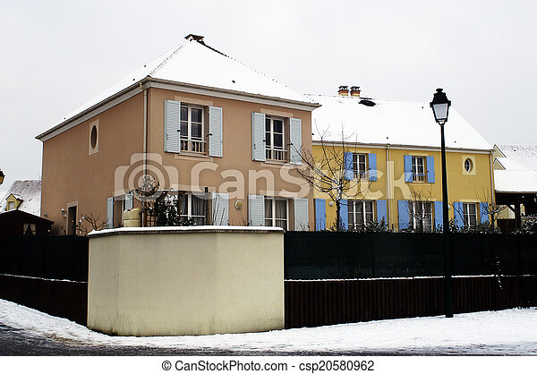 residential area in winter - csp20580962