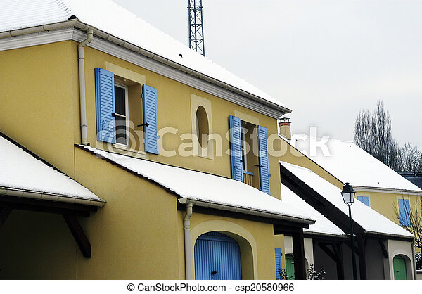 residential area in winter - csp20580966