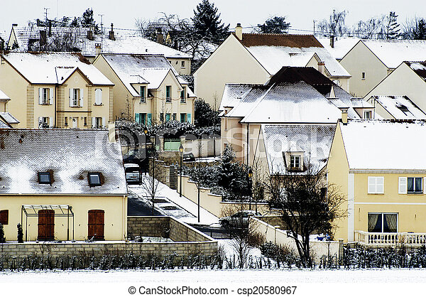 residential area in winter - csp20580967