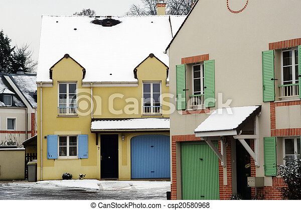 residential area in winter - csp20580968