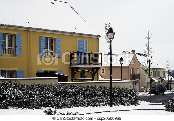 residential area in winter - csp20580969